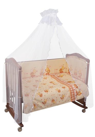 Постельное белье в кроватку Пчелки 3 предмета фото 1