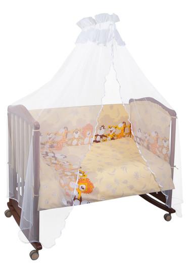 Бортики в детскую кроватку Африка бежевый