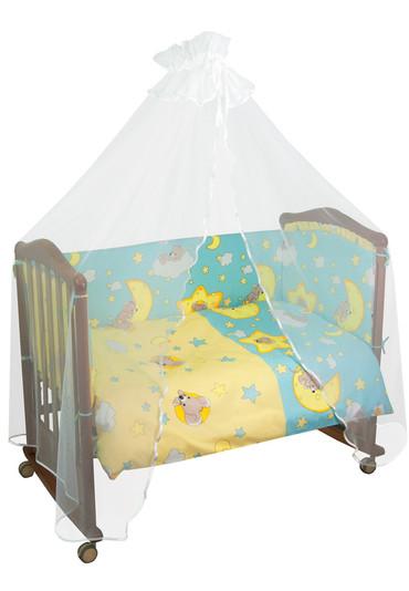Бортики в детскую кроватку Сыроежкины Сны фото 1 голубой