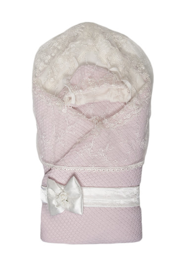 Конверт-одеяло на выписку Жемчужинка фото розовый