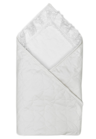Конверт-одеяло для новорожденного на выписку Ласточка фото белоснежный