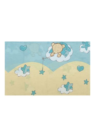 Наволочка Мишкин сон фото 1 голубая