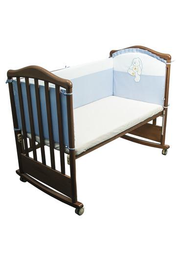 Бортик в кроватку Пушистик фото голубой