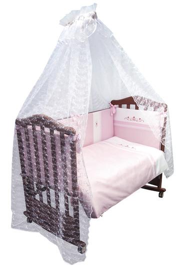Постельное бельё в кроватку Прованс 7 предметов фото