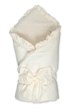 Конверт-одеяло на выписку Ваниль с мехом фото