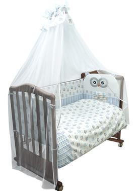 Комплект белья в детскую кроватку Софушки фото голубой