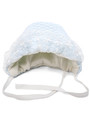 Вязаная шапочка для новорожденного фото голубой цвет