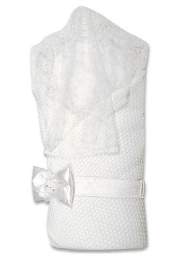 Конверт-одеяло на выписку Жемчужинка фото белый