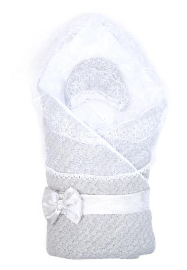 Конверт-одеяло на выписку Жемчужинка фото серый