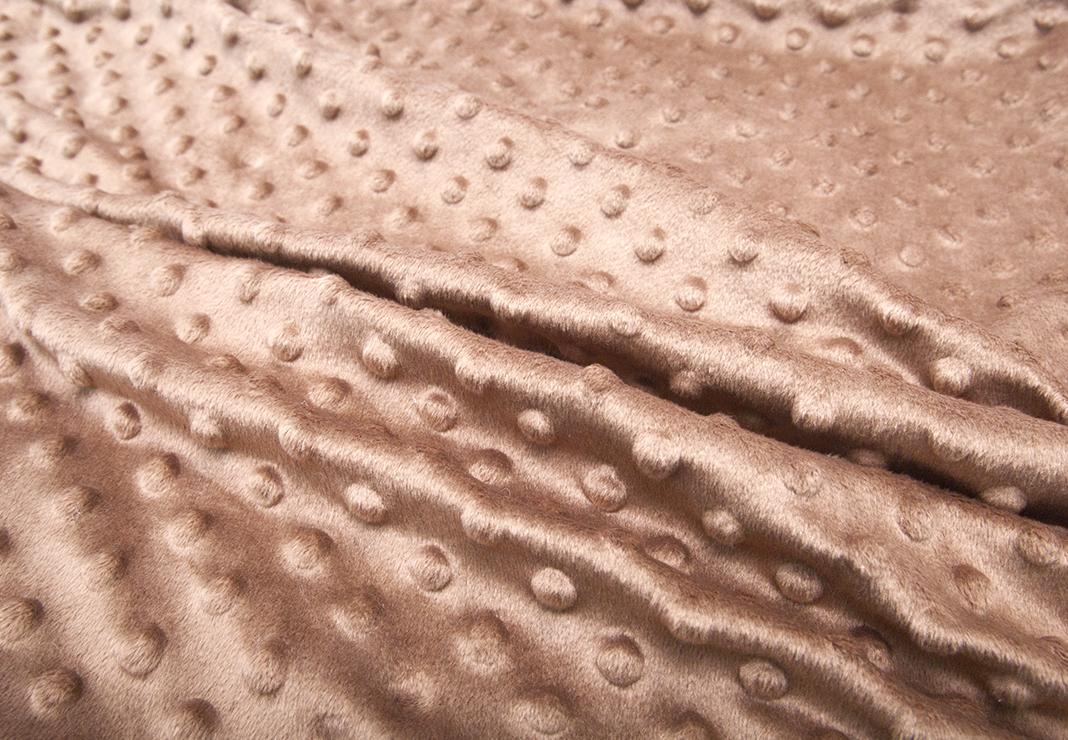 Детский плед Горошек из плюша Минки Дот - шоколод - фото
