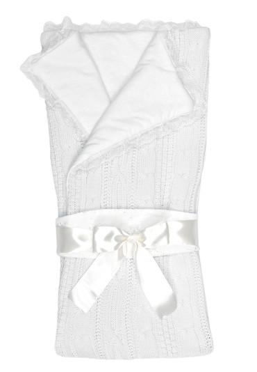 Конверт-одеяло на выписку Нежность фото белоснежный