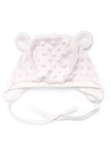 шапочка с ушками розовая