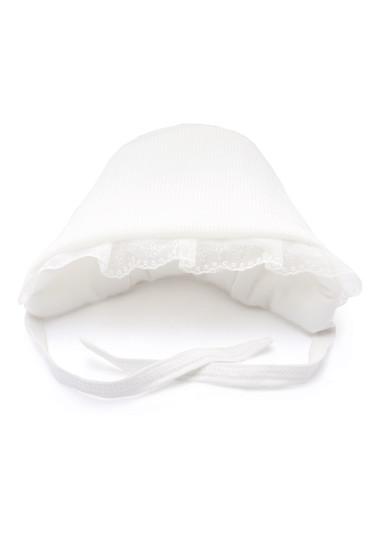 Вязаная шапочка для новорожденного фото