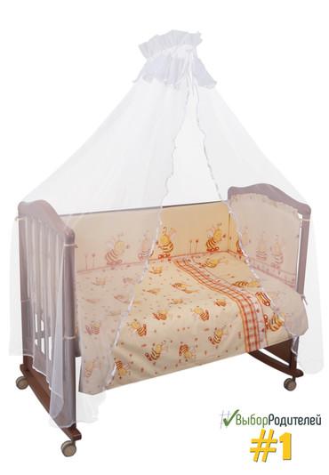 Постельное белье в кроватку Пчелки 7 предметов