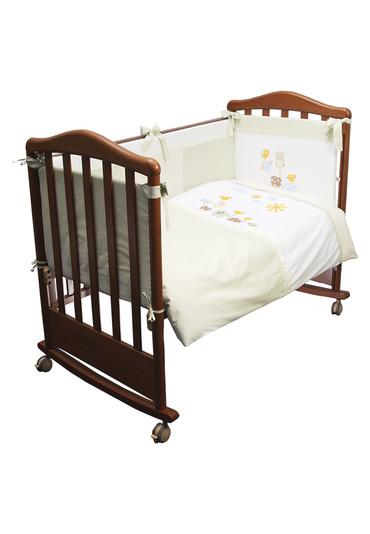 Детское постельное бельё в кроватку Пикник 3 предмета салатового цвета фото