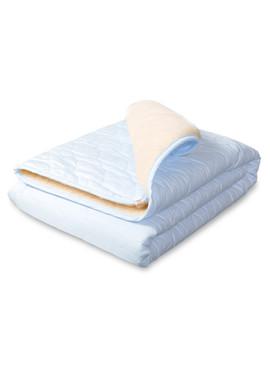 Плед-одеяло на овчине Барашек голубой фото