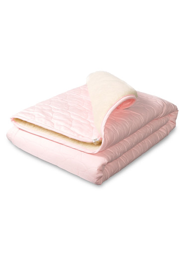Плед-одеяло на овчине Барашек розовый фото