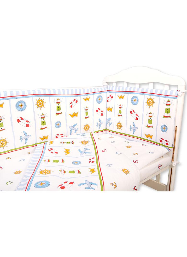 a9efc6019afc Набор Маяк из 6 предметов в кроватку для новорожденного - Сонный Гномик