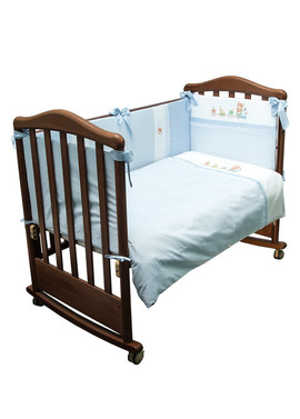 Комплект белья в детскую кроватку Паровозик 6 предметов фото