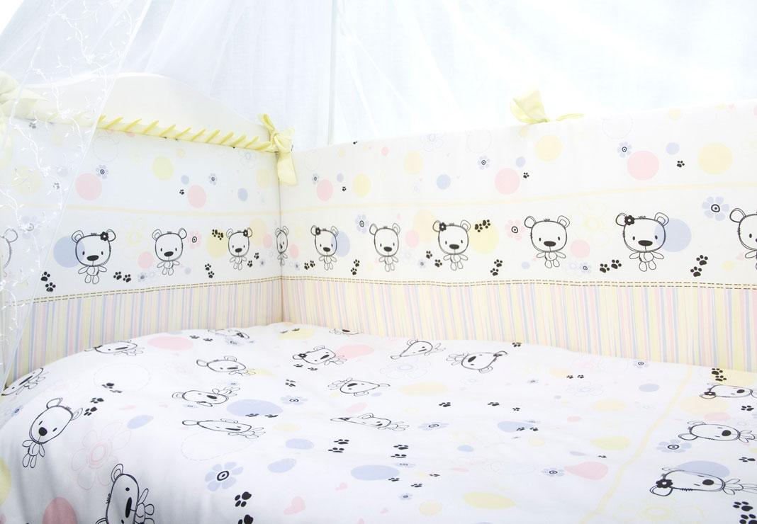 Постельное белье в кроватку Конфетти 7 предметов фото