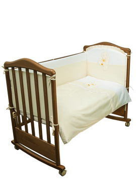 Постельное бельё в детскую кроватку Пушистик 6 предметов фото