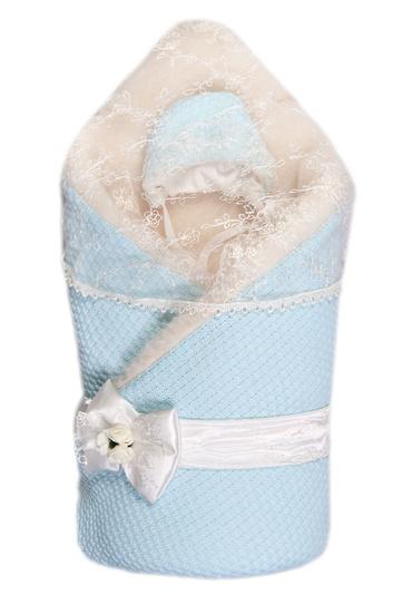 Конверт-одеяло  с мехом на выписку Жемчужинка фото 1