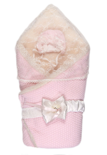 Конверт-одеяло  с мехом на выписку Жемчужинка фото
