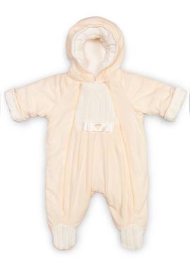 Комбинезон из флиса для новорожденных Ромашка фото беж