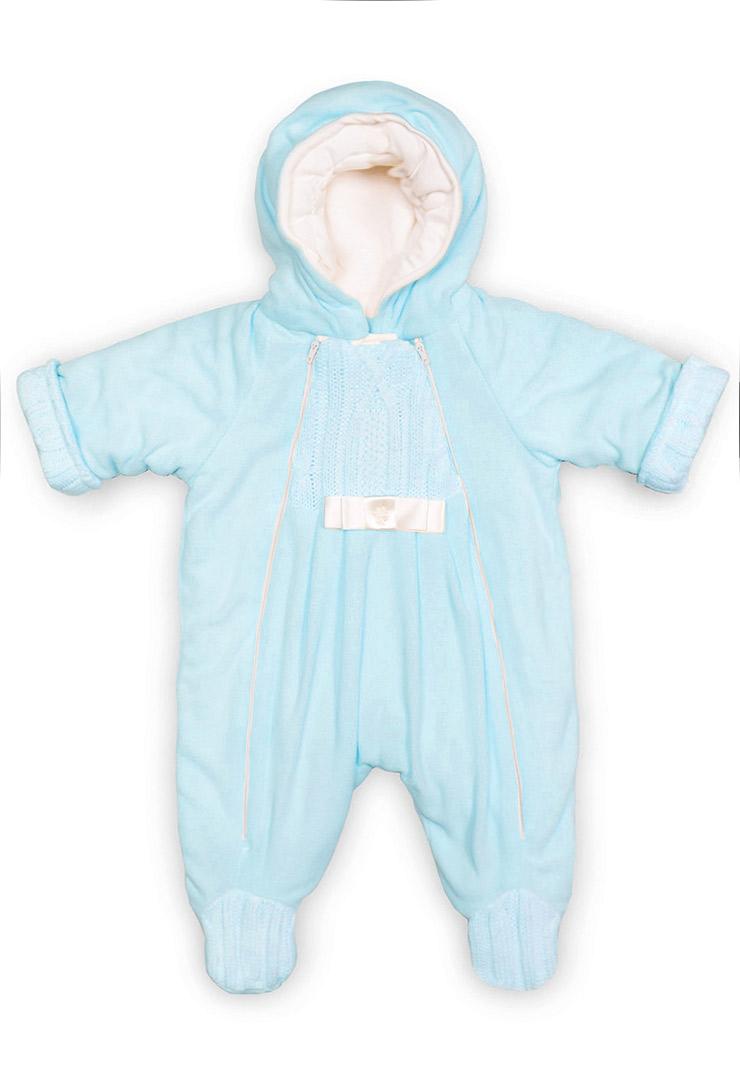Комбинезон из флиса для новорожденных Ромашка фото голубойКомбинезон из флиса для новорожденных Ромашка фото голубой