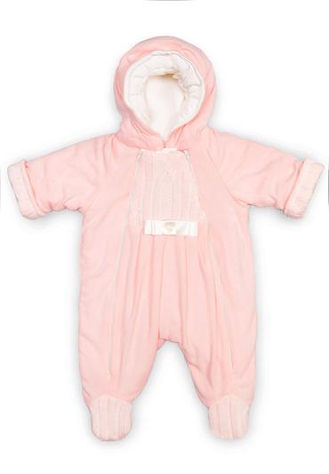 Комбинезон из флиса для новорожденных Ромашка фото голубойКомбинезон из флиса для новорожденных Ромашка фото розовый