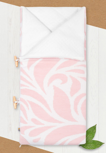 Конверт-одеяло на выписку Миндаль нежно-розовый цвет фото