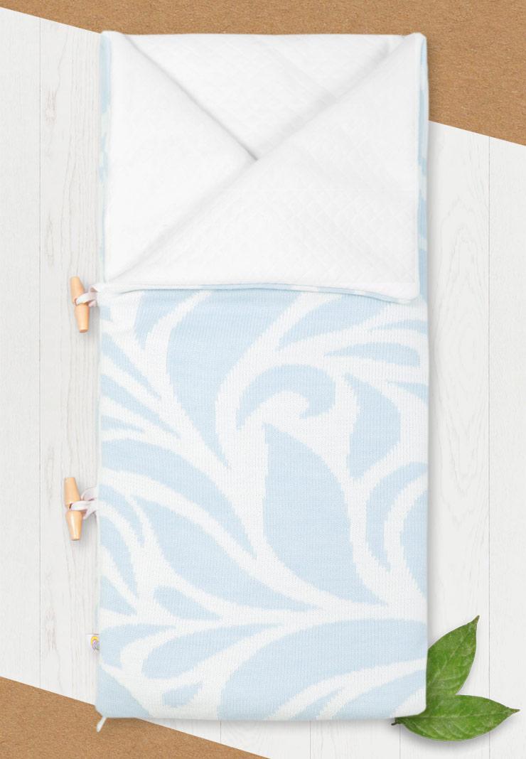 Конверт-одеяло на выписку для новорожденного Миндаль фото