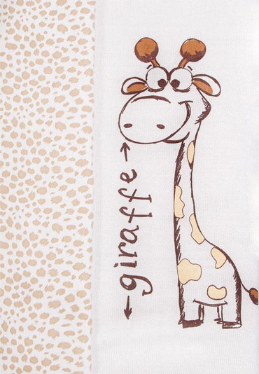 Вязаный плед Жираф фото молочный