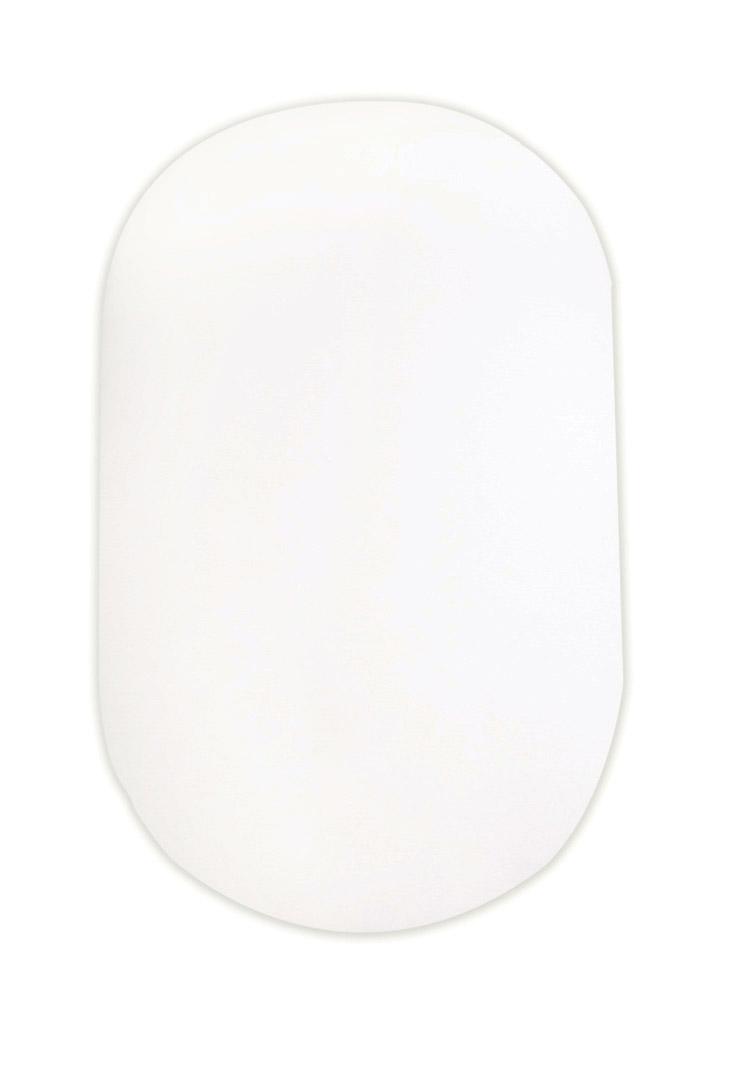 простынь на резинке на овальную кроватку молочный цвет фото