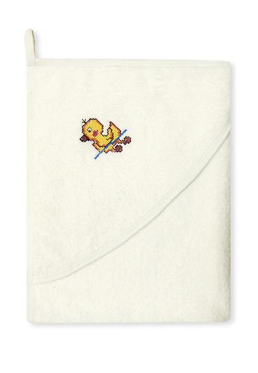 Полотенце для новорожденных бежевый цвет фото