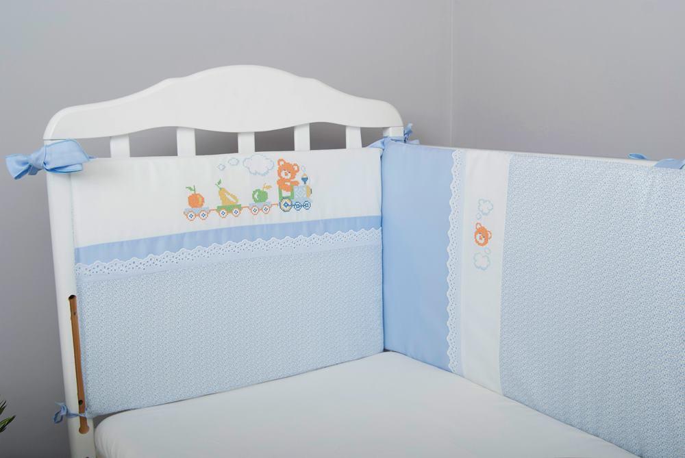 бортики в кроватку Паровозик фото 1