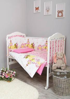 Постельное белье Золушка 6 предметов в детскую кроватку фото 1