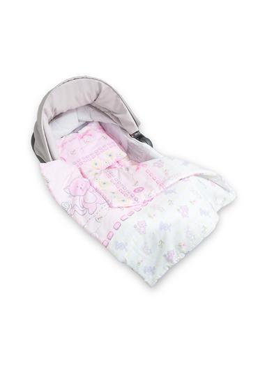 Комплект для коляски Акварель розовый фото