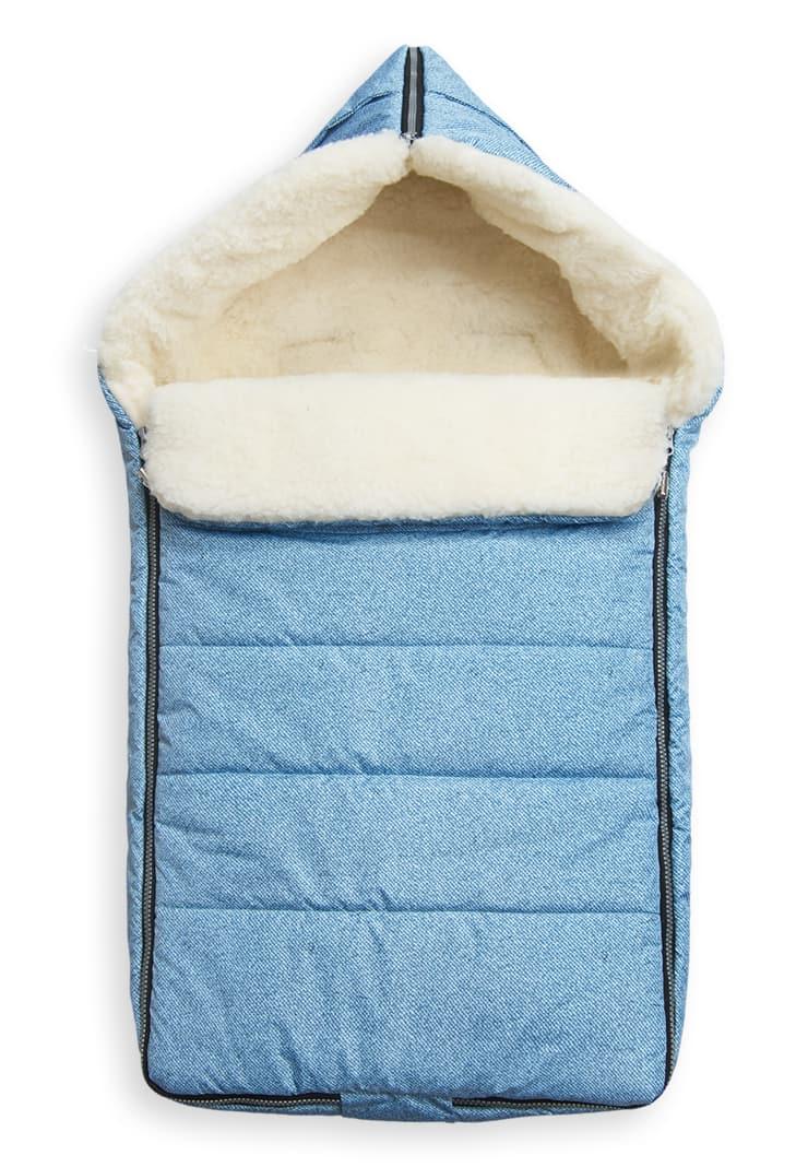 c9571ec342ea Меховой спальный мешок Йокки для новорожденного - Сонный гномик