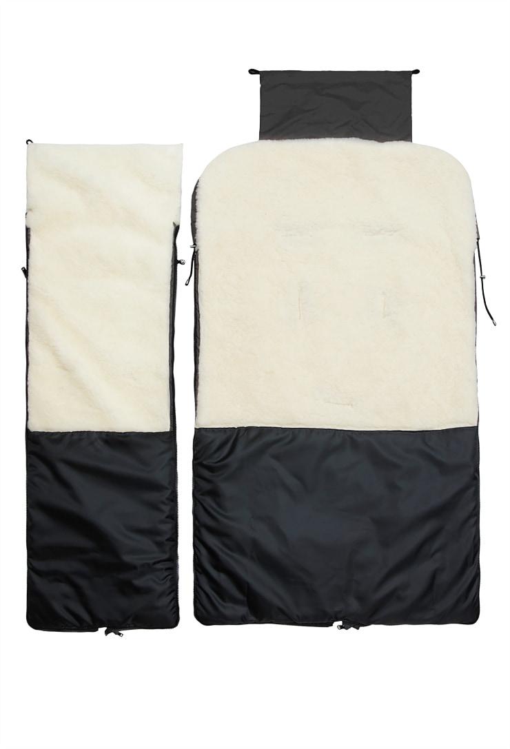 Чёрный конверт на овчине в санки Норд Макси фото
