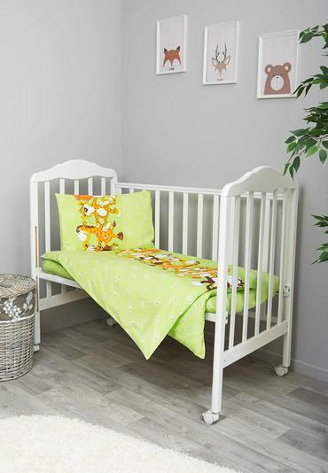 Постельное белье в кроватку Африка салатовый фото