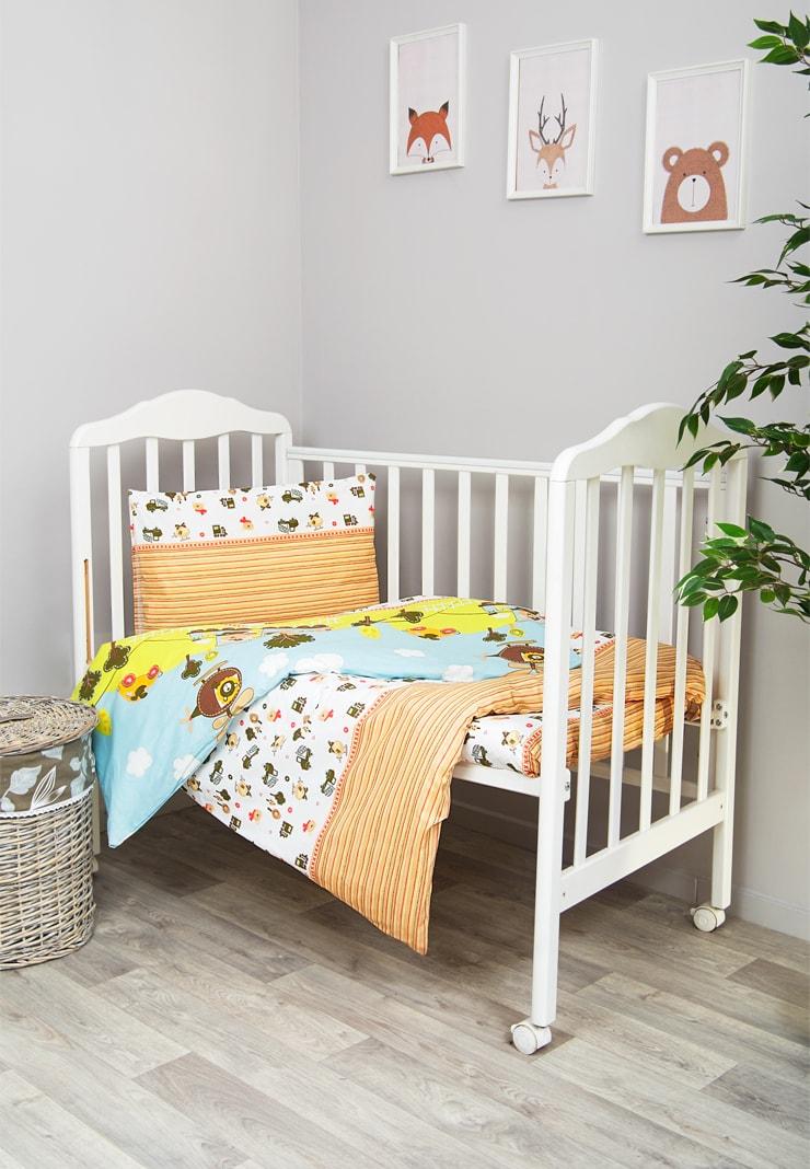 Постельное белье в кроватку Каникулы 3 предмета фото
