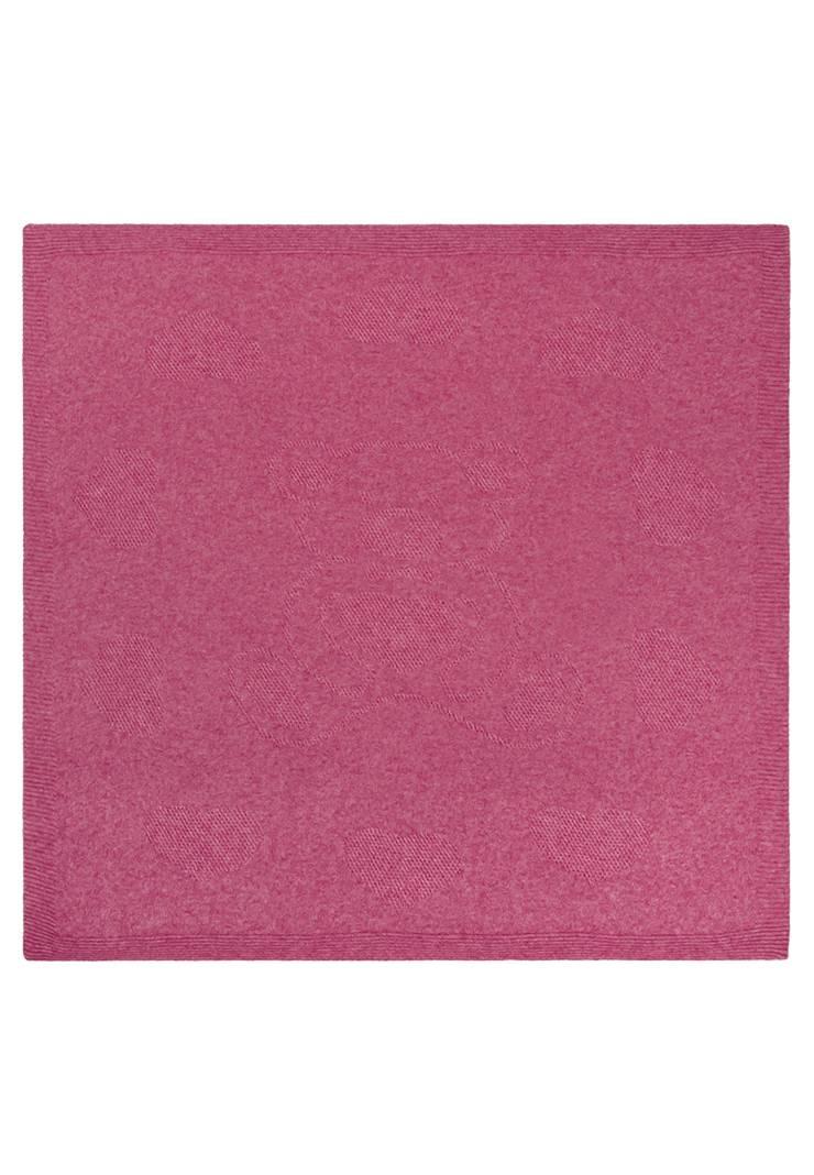 Вязаный плед Сластена розовый фото