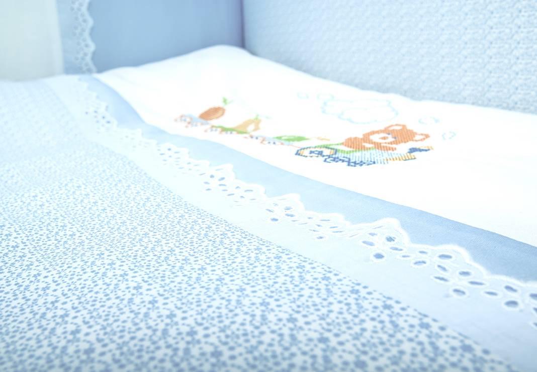 Детское постельное белье в кроватку для новорожденных Паровозик  фото