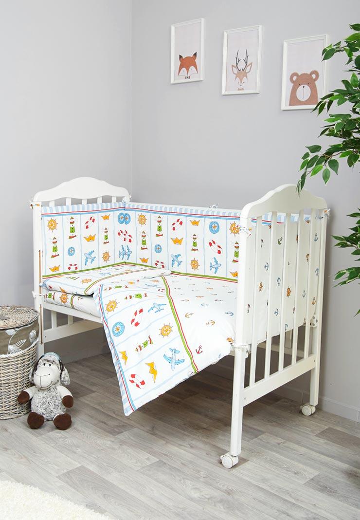 259943ba365b Полный набор Маяк постельных принадлежностей в кроватку - Сонный Гномик