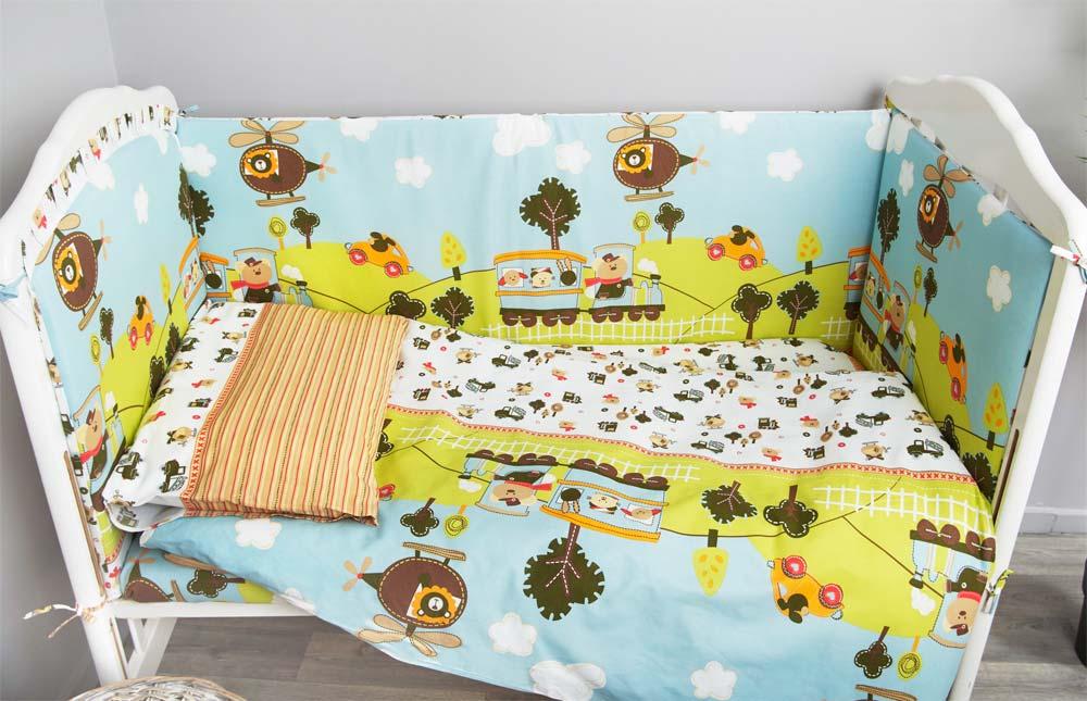 Постельное белье в кроватку Каникулы 7 предметов фото 1