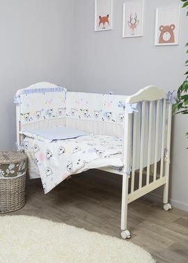 Постельное белье в кроватку Конфетти 6 предметов фото голубой