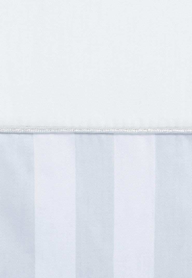 бортик в кроватку серебряная нить голубой