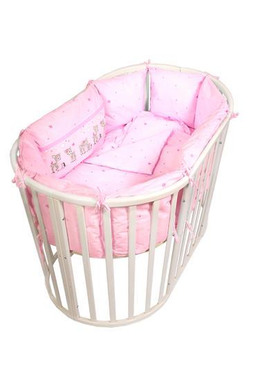 оленята бортики-подушки розовые фото