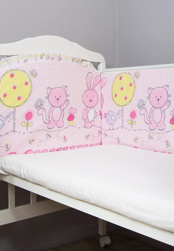 Бортики Акварель розовые фото